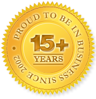 Proud to be in business for over 15 years